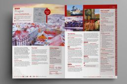 Sample Christmas holiday spread from One Traveller brochure