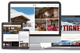 Web design for an hotel in Tignes, France